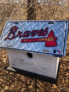 License Plate Birdhouse Atlanta Braves