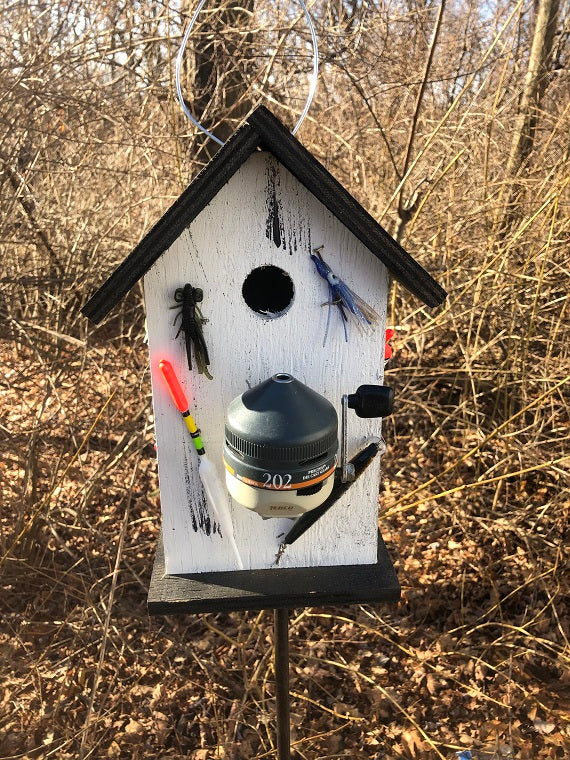 Birdhouse Unique Fishing Reel Fishing Lures Fisherman Fully Functional