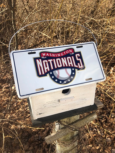 License Plate Birdhouse Washington Nationals