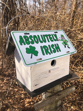 Load image into Gallery viewer, License Plate Birdhouse Absolutely Irish