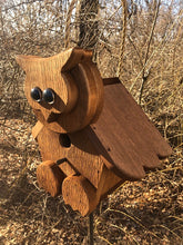 Load image into Gallery viewer, Birdhouse Cedar Rustic Primitive Hoot Owl