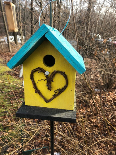 Birdhouse Grapevine Heart Country