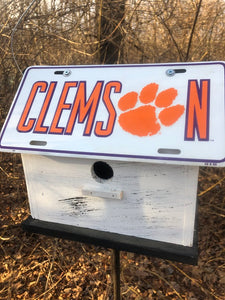 License Plate Birdhouse Clemson Tigers