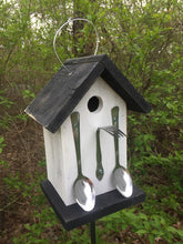 Load image into Gallery viewer, Birdhouse Unique Spoons and Fork White Fully Functional