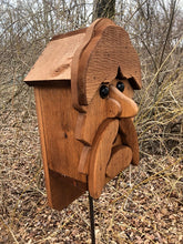 Load image into Gallery viewer, Birdhouse Cedar Rustic Primitive Captain Jack