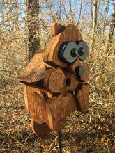 Load image into Gallery viewer, Birdhouse Cedar Rustic Primitive Rocky Raccoon