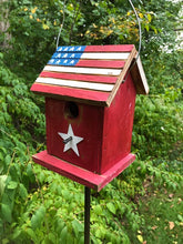 Load image into Gallery viewer, Birdhouse Patriotic Flag Americana