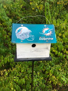 License Plate Birdhouse Miami Dolphins
