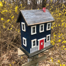 Load image into Gallery viewer, Saltbox Birdhouse Dark Blue Fully Functional