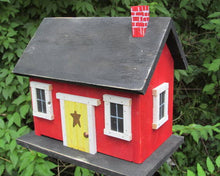 Load image into Gallery viewer, Country Cabin Red Birdhouse Fully Functional