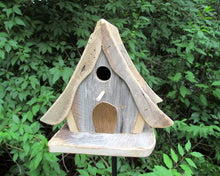 Load image into Gallery viewer, Birdhouse Unique Swiss Chalet Rustic Fully Functional