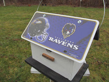 Load image into Gallery viewer, License Plate Birdhouse Baltimore Ravens