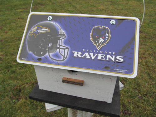 License Plate Birdhouse Baltimore Ravens