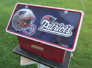 License Plate Birdhouse New England Patriots