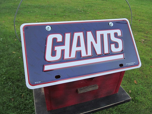License Plate Birdhouse New York Giants