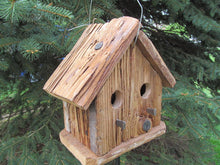 Load image into Gallery viewer, Birdhouse Cedar Two Hole Rustic Primitive Country