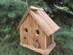 Birdhouse Cedar Two Hole Rustic Primitive Country
