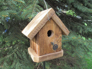 Birdhouse Cedar Rustic Primitive One Hole