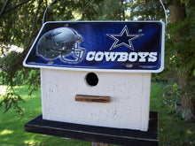 Load image into Gallery viewer, License Plate Birdhouse Dallas Cowboys