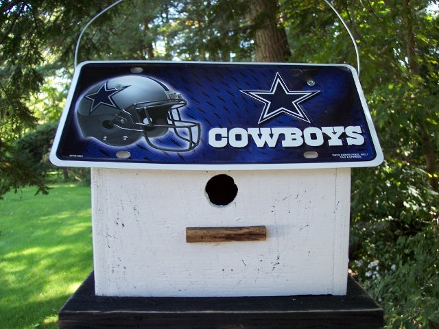 License Plate Birdhouse Dallas Cowboys
