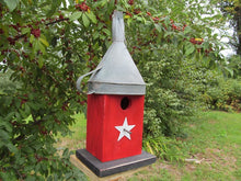 Load image into Gallery viewer, Birdhouse Rusty Funnel Red Primitive Star