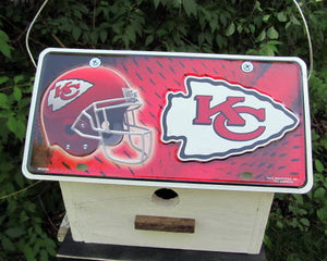 License Plate Birdhouse Kansas City Chiefs