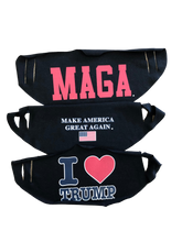 Load image into Gallery viewer, Trump MAGA face masks 3 pack. FREE SHIPPING