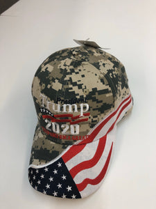 New design! Camo Trump 2020 flag hat