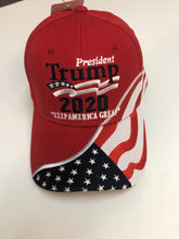 Load image into Gallery viewer, New design! Red Trump 2020 flag hat