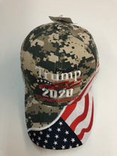 Load image into Gallery viewer, New design! Camo Trump 2020 flag hat