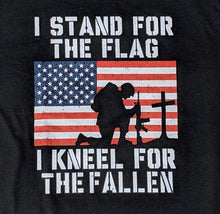 Load image into Gallery viewer, Stand for the Flag, kneel for the Fallen shirt