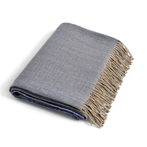 Linen Throw PREILA blue