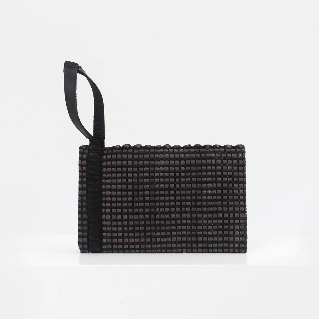 Clutch bag AUSTĖ No.12 in dark brown