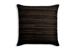 Handwoven pillowcase AUSTĖ in choco and black