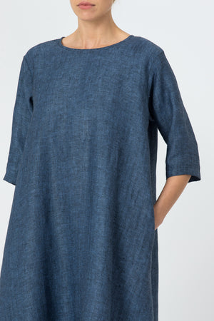 Dress DALIA in navy blue