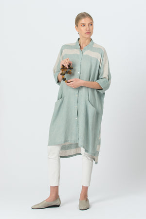 Oversized Linen Shirt AGNĖ mint