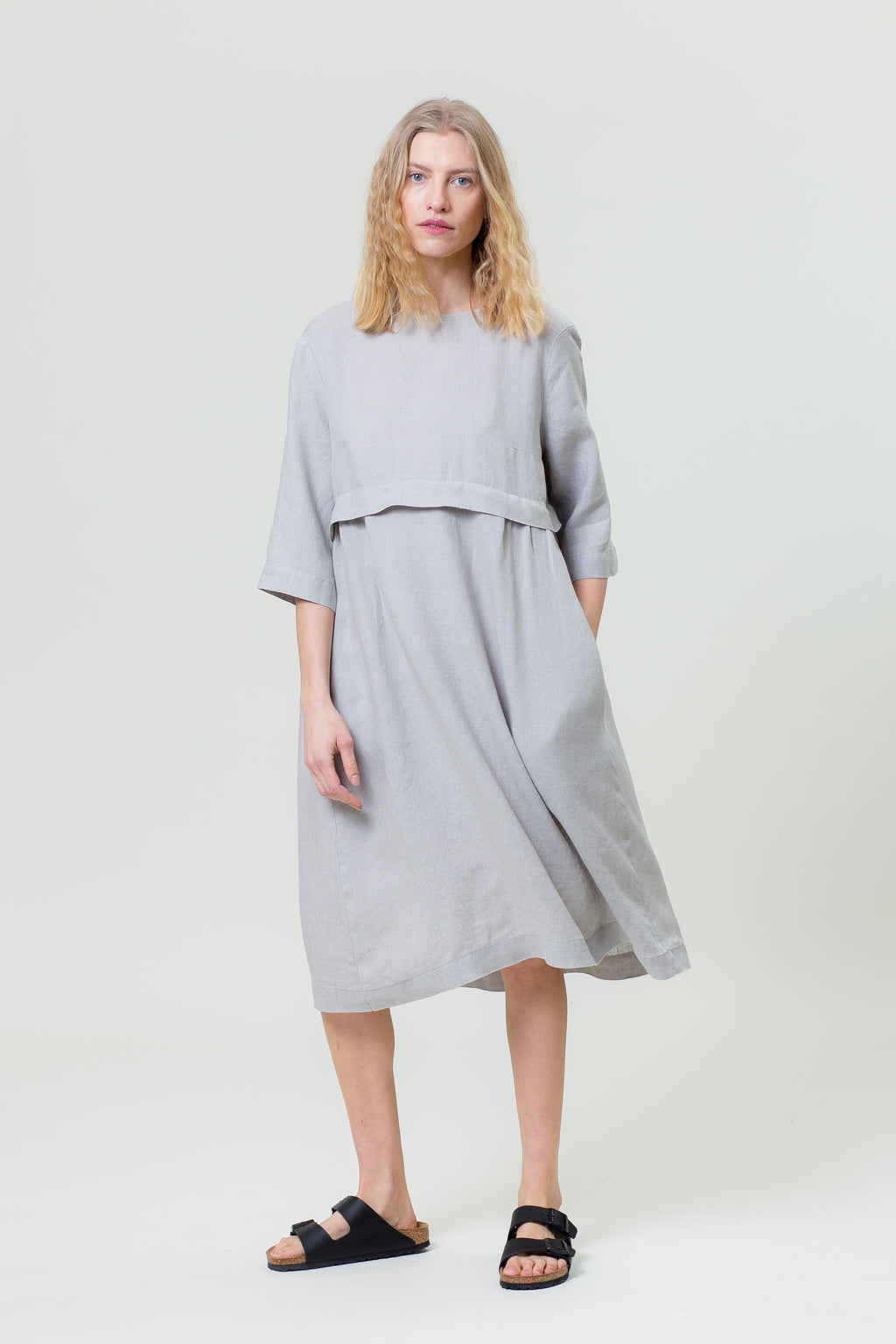 Linen Dress MONIKA smoke