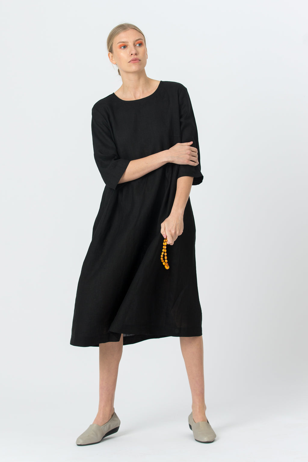Linen Dress MONIKA black