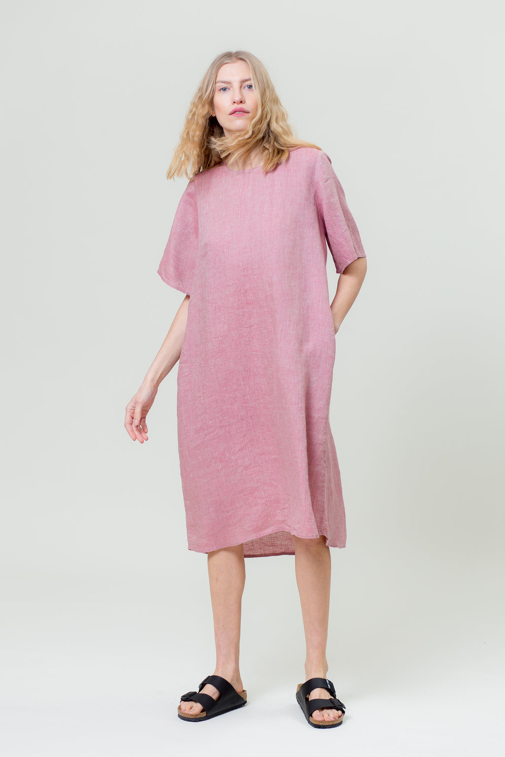 Linen Dress JŪRA rose
