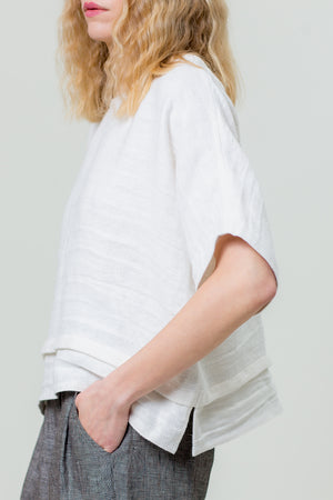 Linen Top KASTĖ white