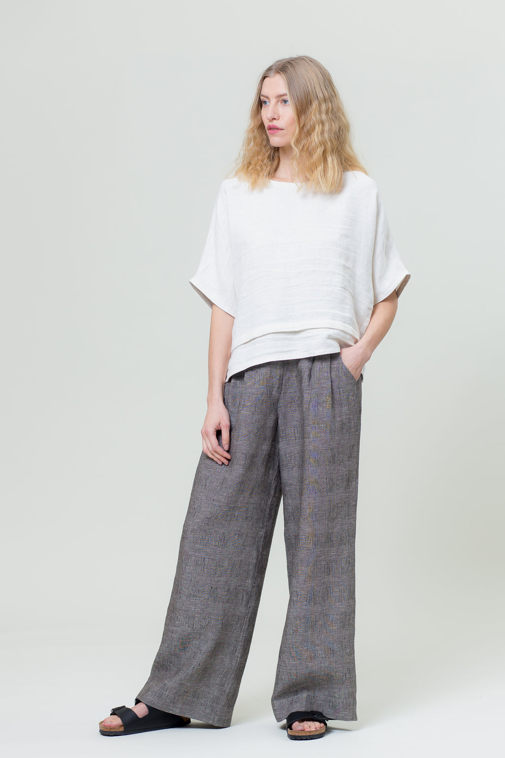 Linen Pants TU graphite grey