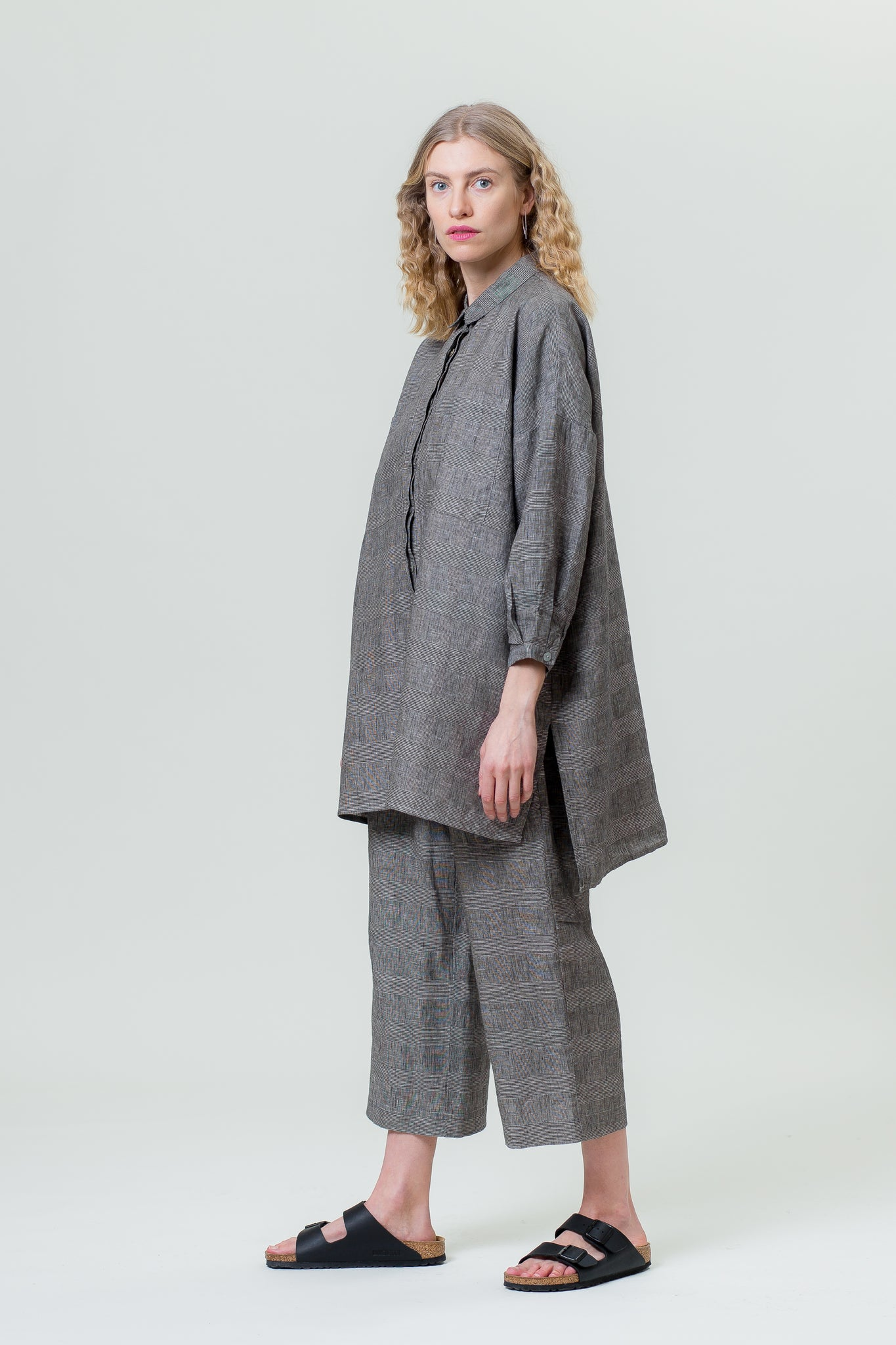 Linen Shirt VANDA graphite grey