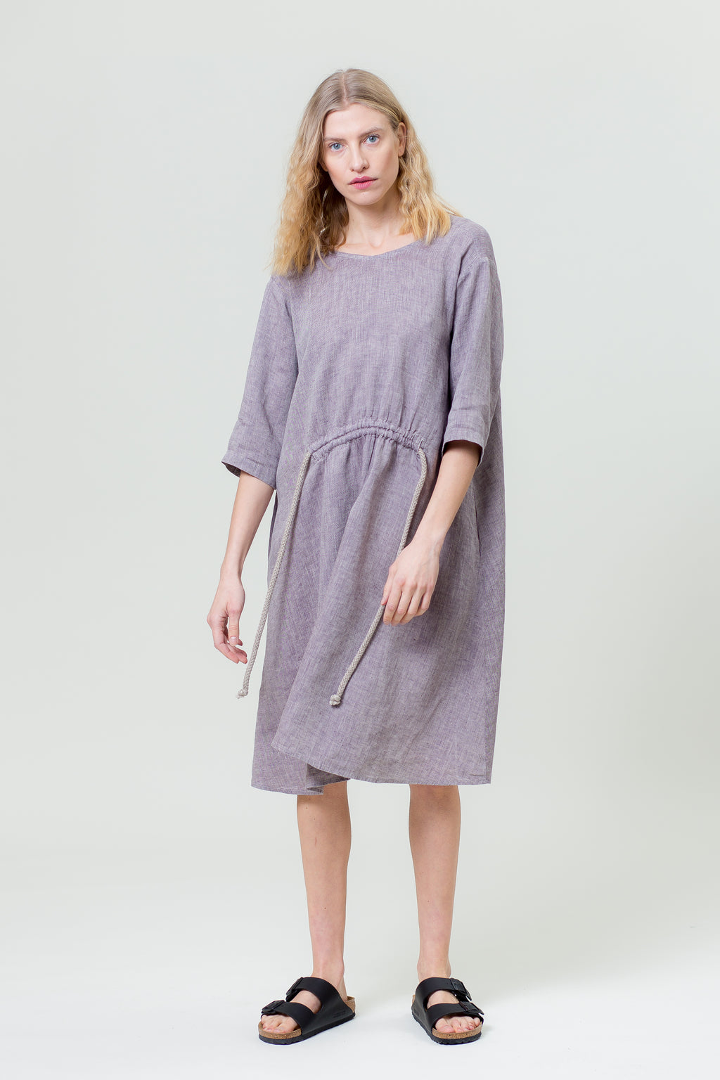 Linen Dress JURGA purple