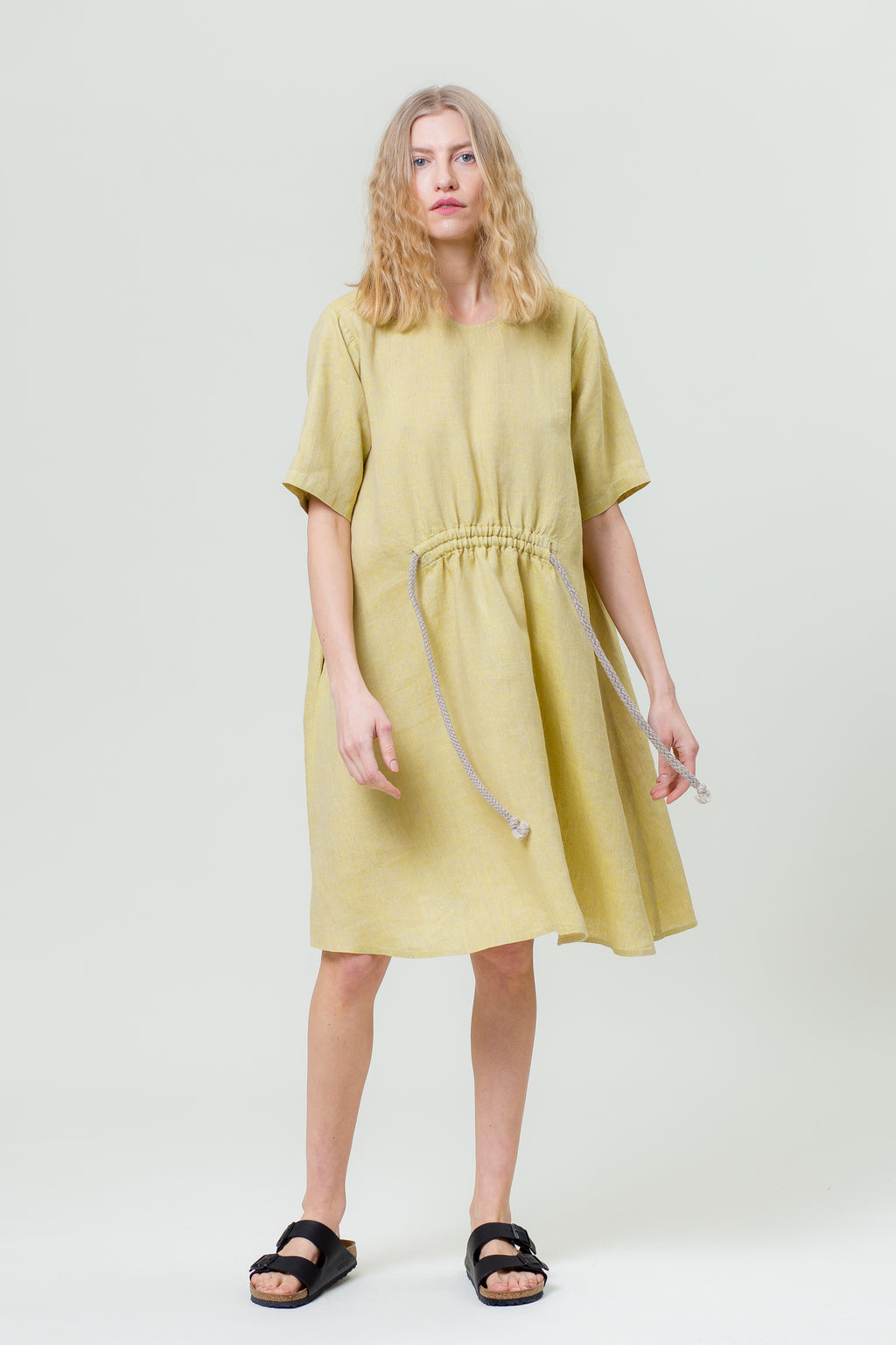 Linen Dress JURGA mimosa