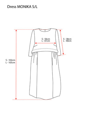 Linen Dress MONIKA gold