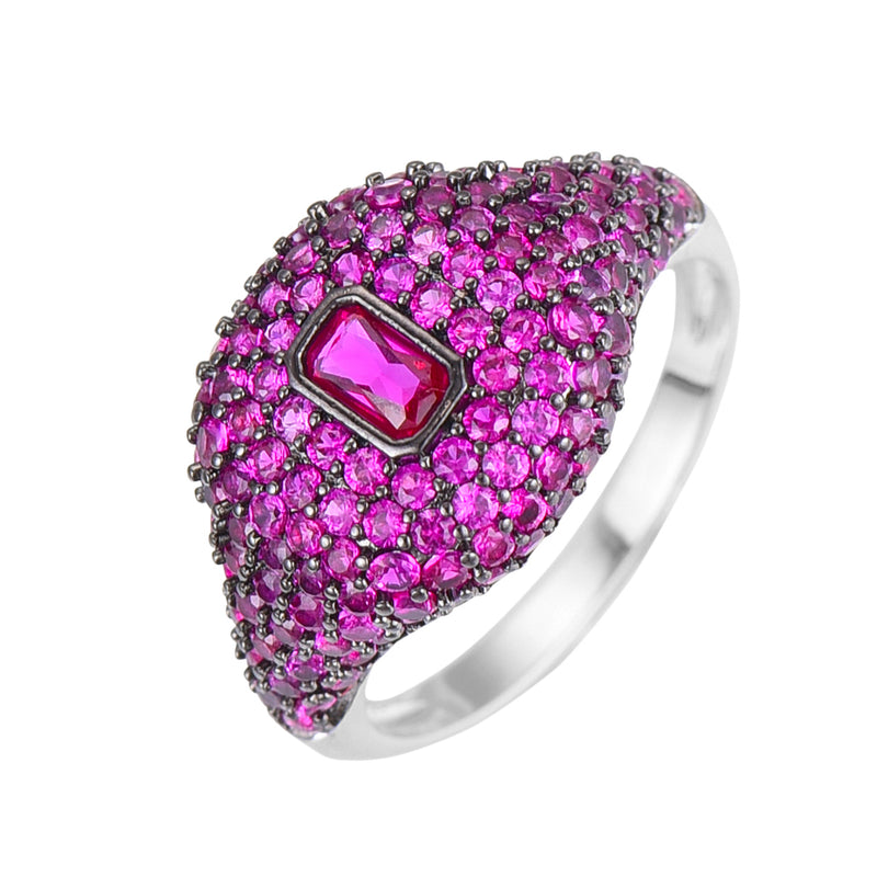 Ava Color Dome Ring