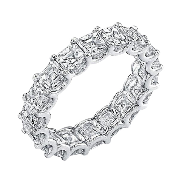 Princess Cut Gem Eternity Band