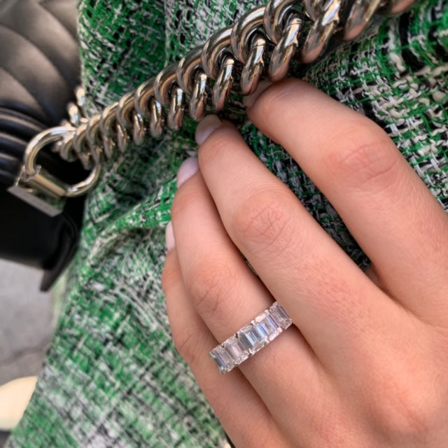 NEW Emerald Cut Eternity Band