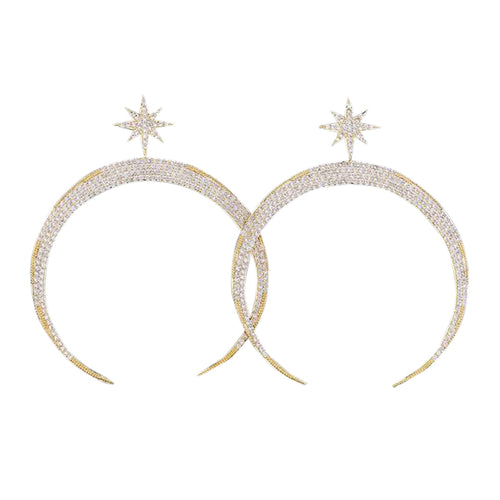 Luna Micropave Star Earrings