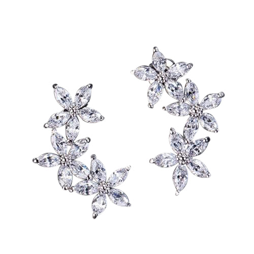 Nova Marquise Triple Flower Earrings